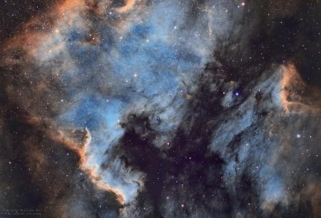 NGC7000-IC5067 / Les Nébuleuses de l'Amérique du Nord et du Pélican