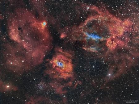 Région de NGC7635, la nébuleuse de la Bulle