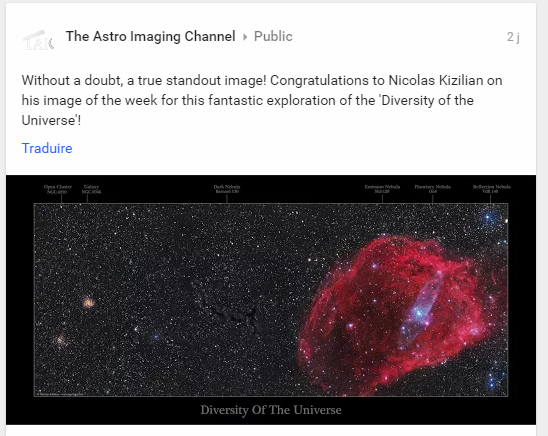 """""""Divertisty Of the Universe"""", Image Of The Week, The Astro Imaging Channel - Semaine 43/2016"""